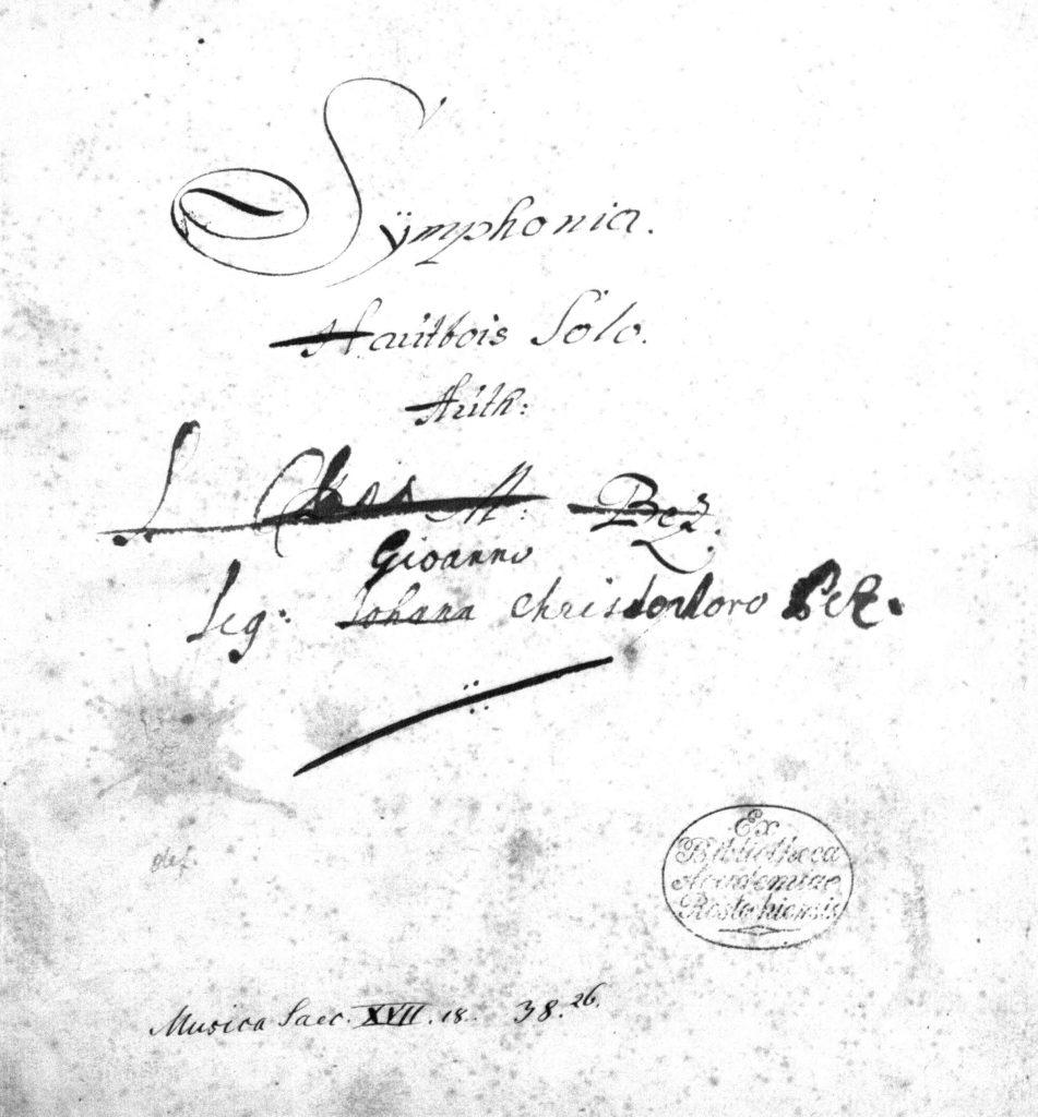 "JC Pez: ""Symphonia"" – the oldest oboe sonata? (2/2) – Juri Vallentin"